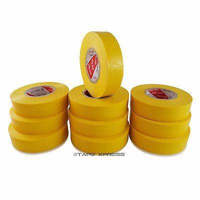 10 Rolls Yellow Vinyl Pvc Electrical Tape 34 X 66 Adhesive - Free Shipping