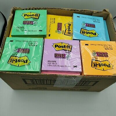 Lot Of 70 Post-it Note Pads 90 Count Assorted Colors