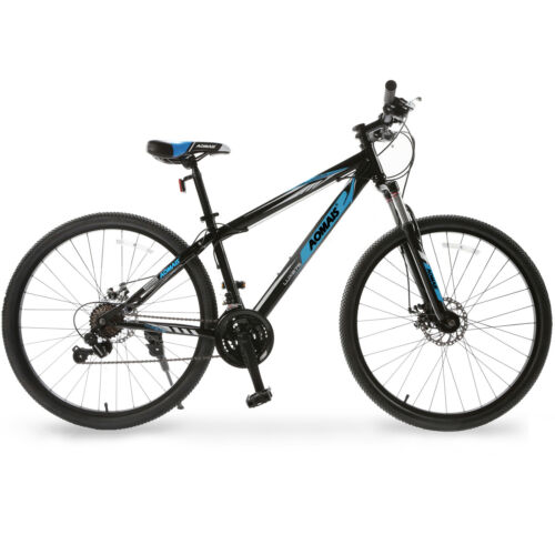 "27.5"" Mountain Bike Hybrid Bike 21 Speeds Blue Front Suspens"