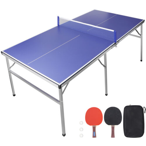 Table Tennis Ping Pong Table With Paddle Great for Small Spa