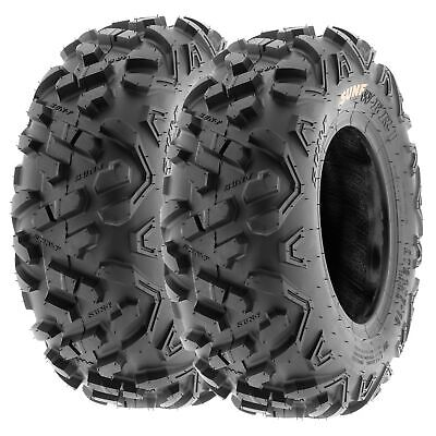 Pair of 2, 145/70-6 145/70x6 Quad ATV All Terrain AT 6 Ply Tires A051 by SunF