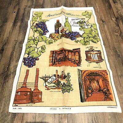 Vintage australian wineries seppeltsfield barossa valley Linen Tea Towel NEW