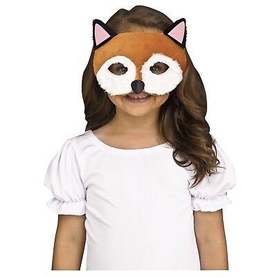 Furry Felt Red Fox Animal Swiper Halloween Costume Half Mask Child Kids Family