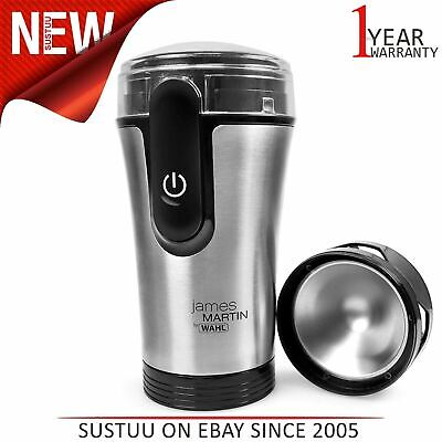 James Martin Wahl ZX992 Spice Herbs Nuts Coffee Beans Grinder¦150w¦Black/Silver