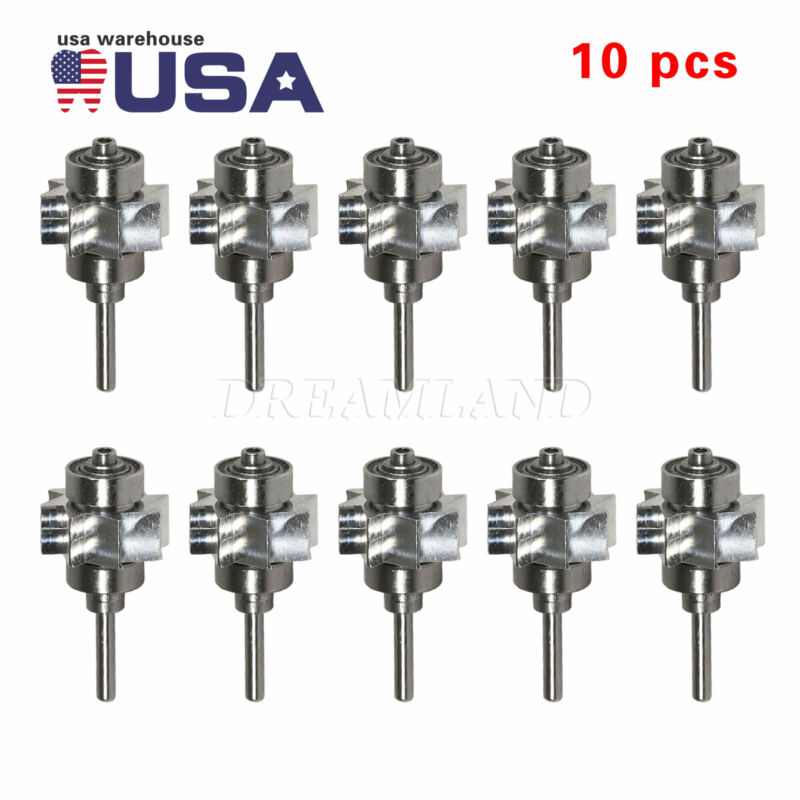 10X USPS Dental Cartridge Rotor Fit 4/2H E-generator Handpiece Large Head T7L