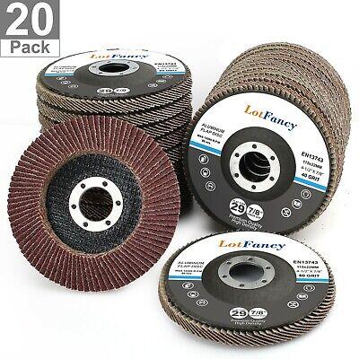 20pcs 40 60 80 120 Grit Assortment Flap Discs Sanding Grinding Wheels 4.5 T29