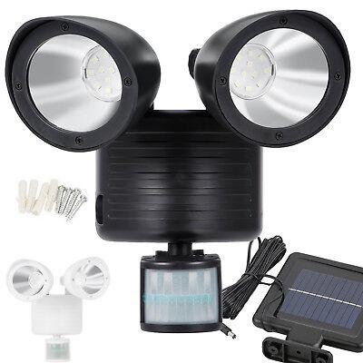 Dual Security Detector Solar Spot Light Motion Sensor Outdoor 22 LED Floodlight ()