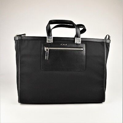 EXZ Executive Brief Case / Laptop Black Bag Business and Travel Can Fit Laptop