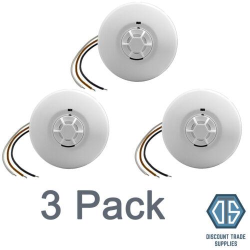 3x Mains Heat Alarm Detector 240V Mains Battery Back Up Linkable Interlinkable