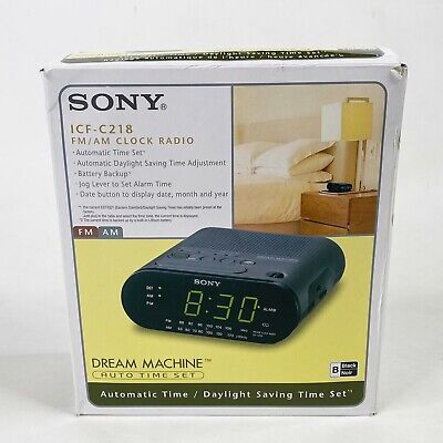 Brand New Sony ICF-C218 Dream Machine AM/FM Clock Radio - AUTO TIME In Box