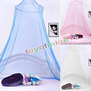 Elegant-Lace-Edge-Round-Netting-Bed-Canopy-Mosquito-Net-Bedroom-Decor-3-Color