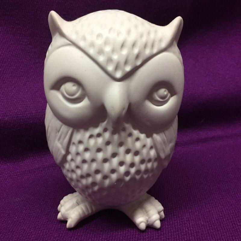 Vintage Mid C Porcelain Owl Coin Bank