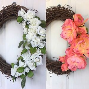 Two Handmade Country-Style Wreaths