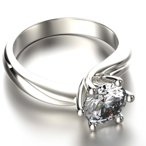 GIA certified 1.00 Carat Round  Diamond Fabulous Engagement Ring 14K White Gold