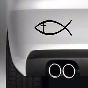 Christian Fish (STYLE 2) BUMPER STICKER FUNNY CAR WINDOW PAINTWORK STICKER DECAL