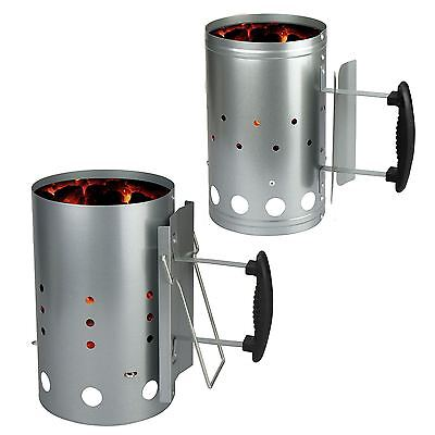 Barbecue Chimney Starter Quick Start BBQ Grill Charcoal Burner Food Lighter