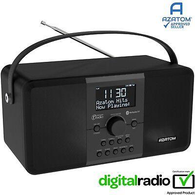 DAB Radio Clock Portable Digital Alarm Rechargeable Bluetooth AZATOM Mulitplex