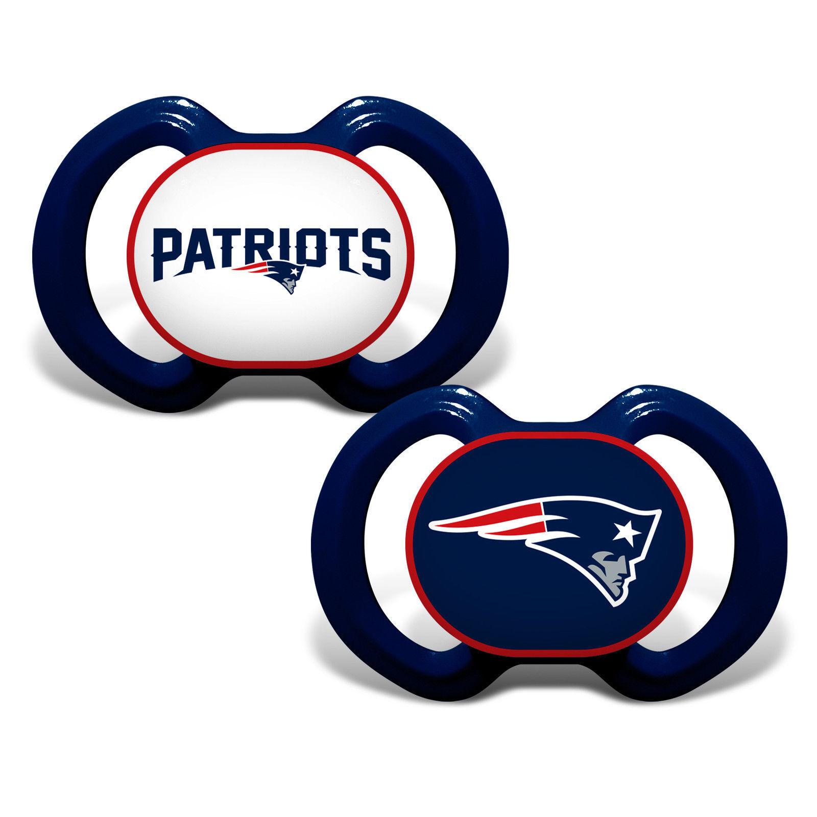 NFL New England Patriots Baby Fanatic 2-Piece Pacifier Set