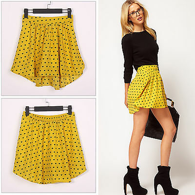 Retro Double Chiffon High Waist Short Pleated Mini Skirt Dress Colors ~Free Ship