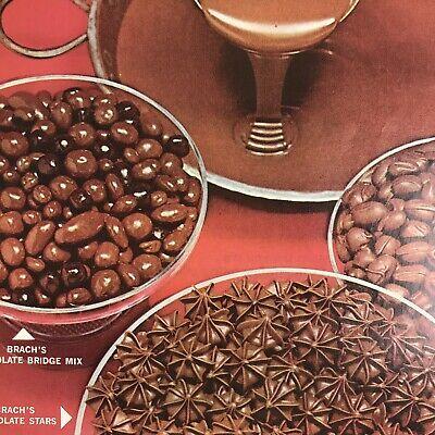 Brachs Chocolate Candy Magazine Print Ad Vintage 1965 Original Food Stars -