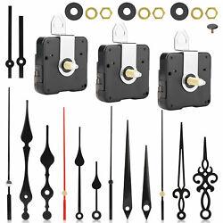 DIY Clock Movement Mechanism Hands Wall Repair Tool Parts Kit Long Shaft Silent