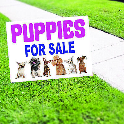 Puppies For Sale Animals Dogs Notice Novelty Indoor Outdoor Coroplast Yard Sign
