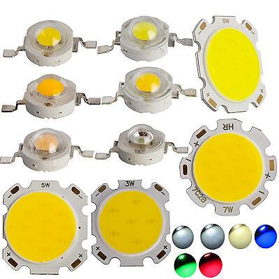 10x 50x 1w 3w 5w 7w Smd Cob Led Chip High Power Beads Light Warmcool White Lamp