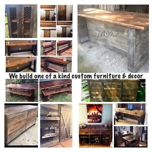 Custom, handcrafted solid wood furniture & decor