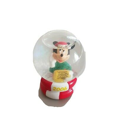 Disney Mickey Mouse Christmas Mini Snow Globe 2006 JCPenney Globe Walt Disney