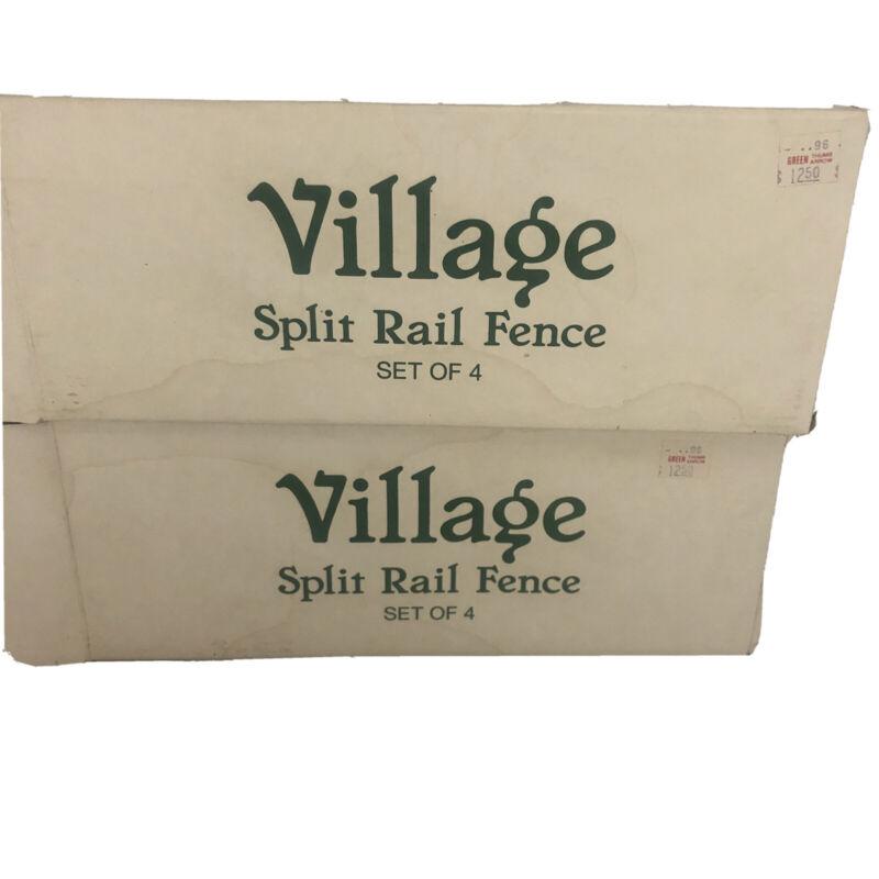 Department 56 Village Split Rail Fence  Set of 8 # 52597- New