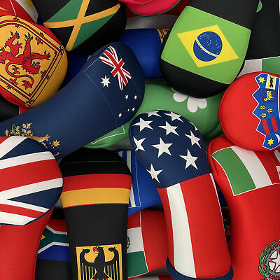 World Flag Themed Golf Club Head Covers