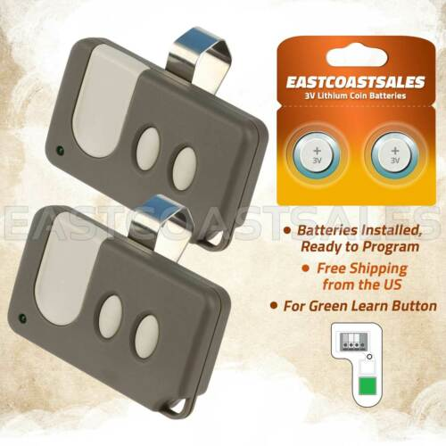 2 For Sears Craftsman Garage Door Opener Remote Control 3 Button 53879 139.53879