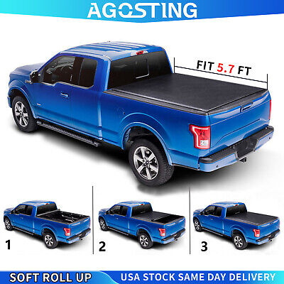 Roll Up 5.7FT Tonneau Cover For 2009-2020 Dodge Ram 1500 2011-2018 Ram 2500 Bed