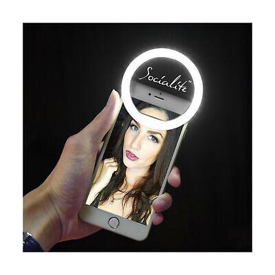 SOCIALITE Mini LED Ring Light - Dimmable Fill Photo & HD Video Lighting for V...