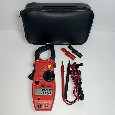 Mac Tools Em400 Digital Clamp-on Amp Meter Complete Good Condition Ships Free
