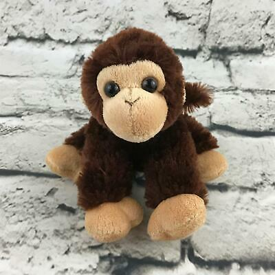 Chimp Chimpanzee - Aurora Chimp Chimpanzee Plush Brown Sitting Standing Stuffed Animal Soft Toy
