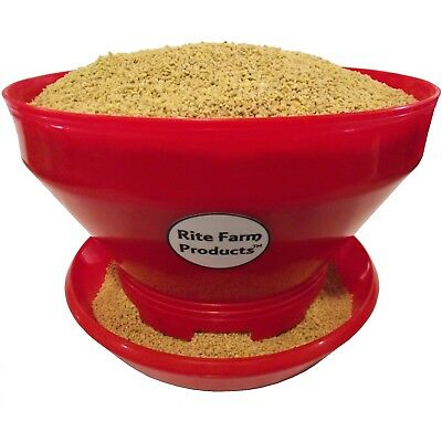 1 Rite Farm Products Turbo Pro 10 Capacity Baby Chick Feeder Poultry Chicken