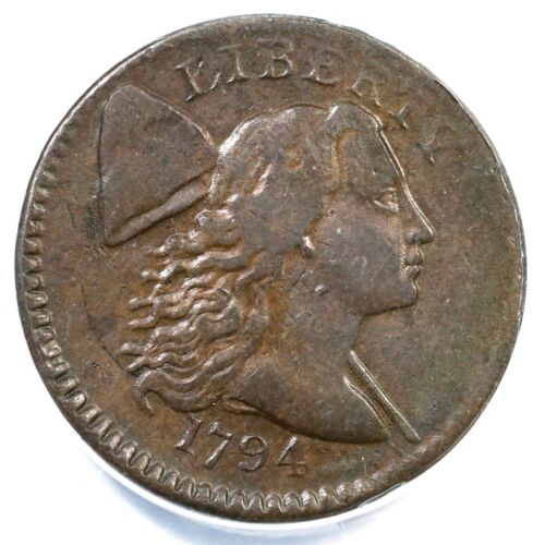 1794 S-65 ANACS F 12 Details Liberty Cap Large Cent Coin 1c