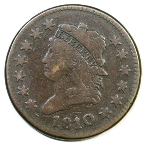 1810/09 S-281 Classic Head Large Cent Coin 1c