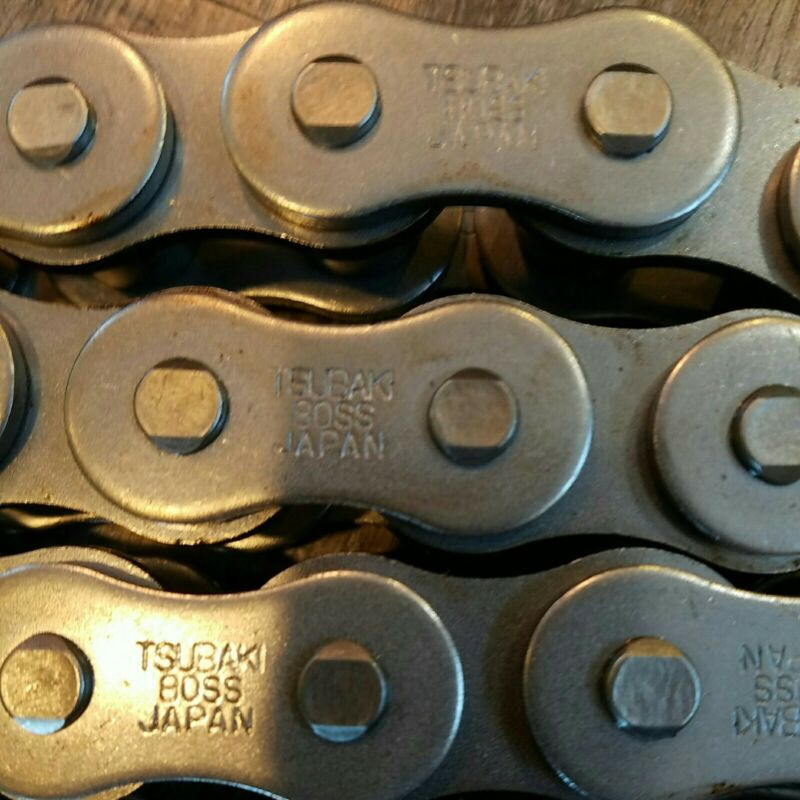 Tsubaki RS80-SS-1-TK Stainless Single Roller Chain 10ft X 1in