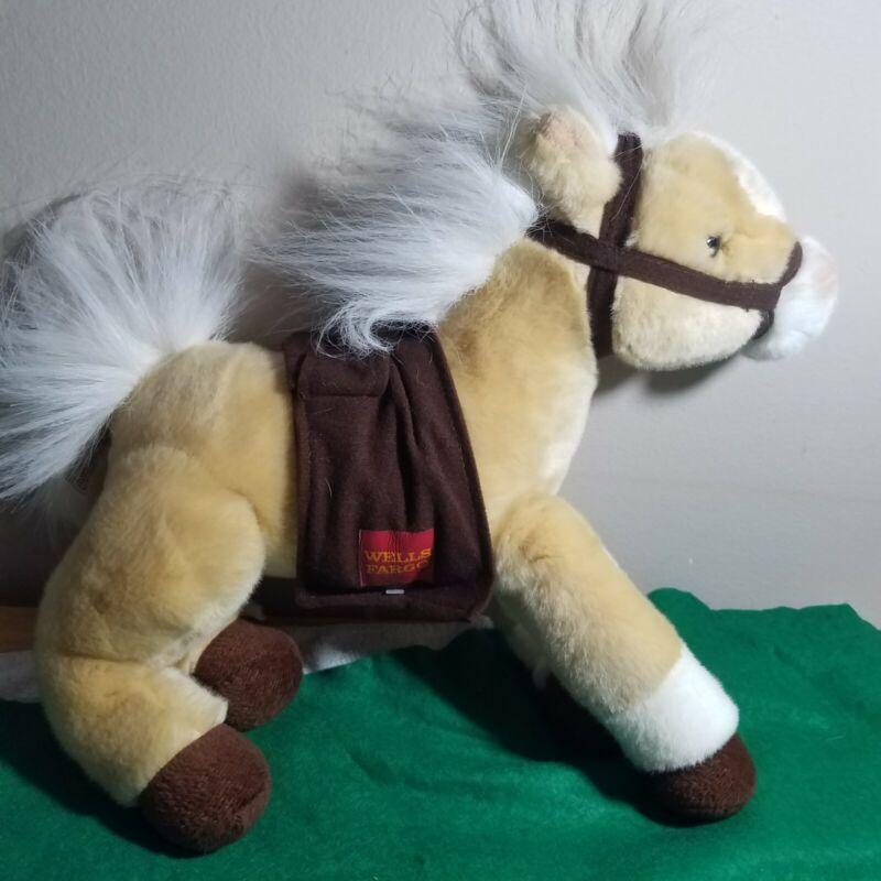 WELLS FARGO Legendary Pony Lightning 2010 Tan Horse Plush Stuffed Animal Toy