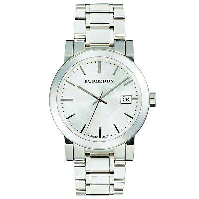 New Burberry Ladies city watch silver bracelet & dial with Swiss Movement BU9100