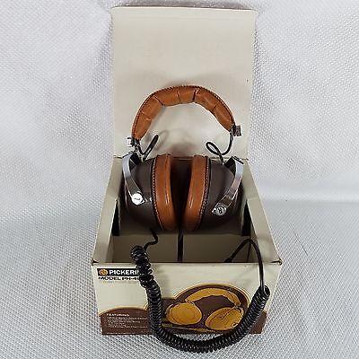 Vintage 70s Pickering Dynamic Stereo Headphones Model PH-4955 New