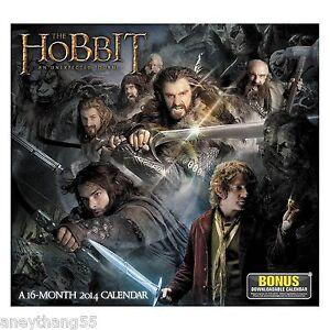 The-Hobbit-An-Unexpected-Journey-2014-Wall-Calendar-NEW-LOTR-Calendar