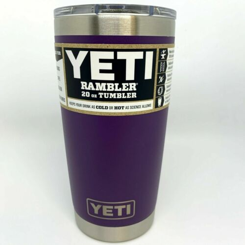 New Yeti 20oz Rambler Tumbler Stainless Steel Tumbler Cup with Lid US Seller