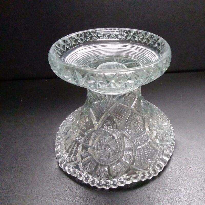 Vintage Aztec/Pinwheel Punch Bowl Base Pedestal L. E. Smith