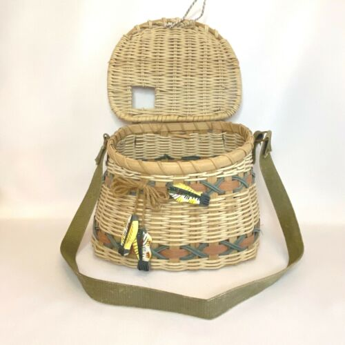 Wicker Fishing Creel Basket Decorative