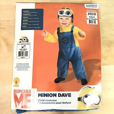 Despicable Me Child Minions Cosplay Infant Toddler Baby Kids Halloween Costume