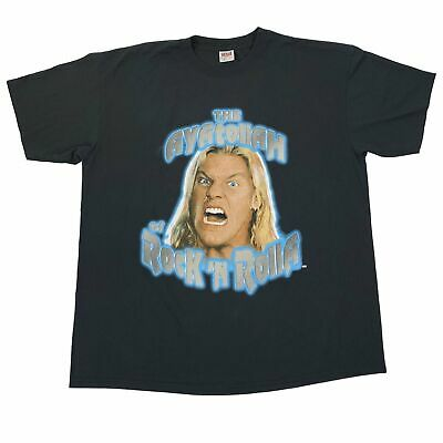 """Vintage Chris Jericho """"The Ayatollah"""" T-Shirt Sz XXL Y2K WWF WWE Wrestling  for sale  Shipping to India"""