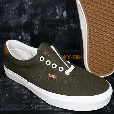 - VANS ERA 59 FLANNEL DUSTY OLIVE GREEN MEN'S SKATE SHOES /S94163.143
